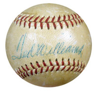 Ted Williams Autographed AL Harridge Baseball Boston Red Sox JSA #B82171