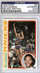 Jim Cleamons Autographed 1978 Topps Card #31 New York Knicks PSA/DNA #83448797