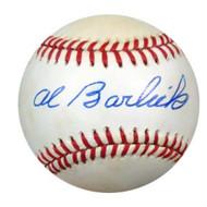 Al Barlick Autographed NL Baseball PSA/DNA #M55471