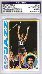 Rich Kelley Autographed 1978 Topps Card #114 New Orleans Jazz PSA/DNA #83461218