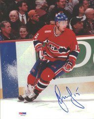 Dainius Zubrus Autographed 8x10 Photo Montreal Canadiens PSA/DNA #U96036