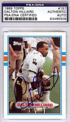 Dalton Hilliard Autographed 1989 Topps Card #157 New Orleans Saints PSA/DNA #83465508