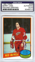 Barry Long Autographed 1980 Topps Card #258 Detroit Red Wings PSA/DNA #83465772