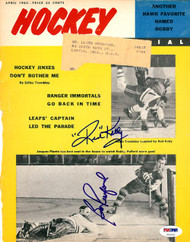 Red Kelly & Bobby Pulford Autographed Hockey Pictorial Magazine Cover Toronto Maple Leafs PSA/DNA #U93501