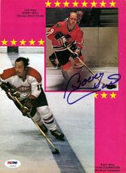 Bobby Hull Autographed Magazine Page Photo Chicago Blackhawks PSA/DNA #U93518