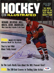 Henri Richard Autographed Hockey Illustrated Magazine Cover Montreal Canadiens PSA/DNA #U93583