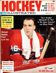 Henri Richard Autographed Hockey Illustrated Magazine Cover Montreal Canadiens PSA/DNA #U93584