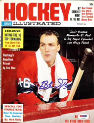 Henri Richard Autographed Hockey Illustrated Magazine Cover Montreal Canadiens PSA/DNA #U93589