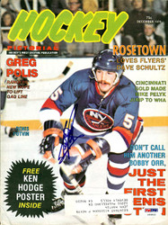 Denis Potvin Autographed Hockey Pictorial Magazine Cover New York Islanders PSA/DNA #U93610