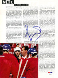 Denis Savard Autographed Magazine Page Photo Montreal Canadiens PSA/DNA #U93617