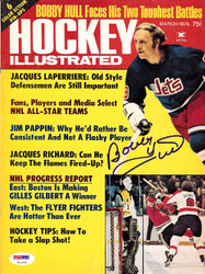Bobby Hull Autographed Hockey Illustrated Magazine Cover Winnipeg Jets PSA/DNA #U93650