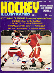 Marcel Dionne Autographed Hockey Illustrated Magazine Cover Detroit Red Wings PSA/DNA #U93886
