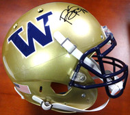 Bishop Sankey Autographed Schutt UW Huskies Full Size Authentic Helmet MCS Holo #40373