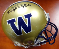 Bishop Sankey Autographed Riddell UW Huskies Full Size Authentic Helmet MCS Holo #40377