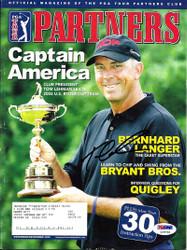 Tom Lehman Autographed 2005 PGA Partners Magazine PSA/DNA #L10733
