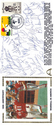 1984 USA Olympic Team (20 Signatures) Autographed First Day Cover Mark McGwire, Will Clark & John Marzano PSA/DNA #K39842