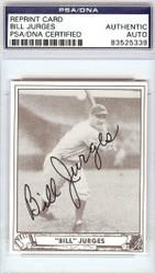 Bill Jurges Autographed Reprint Card #89 New York Giants PSA/DNA #83525339