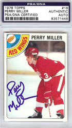 Perry Miller Autographed 1978 Topps Card #16 Detroit Red Wings PSA/DNA #83571446