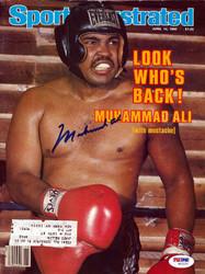 Muhammad Ali Autographed Sports Illustrated Magazine PSA/DNA #W02237