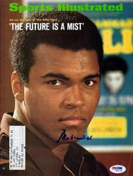 Muhammad Ali Autographed Sports Illustrated Magazine PSA/DNA #W02238