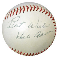 "Hank Aaron & Others Autographed AL Baseball ""Best Wishes"" Vintage PSA/DNA #W05048"
