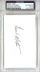 Frank Mathers Autographed 3x5 Index Card PSA/DNA #83721056