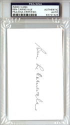 Ben Carnevale Autographed 3x5 Index Card PSA/DNA #83721326