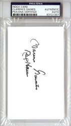 Clarence Gaines Autographed 3x5 Index Card PSA/DNA #83721357