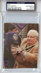 Art Modell Autographed 3.5x4 Cut Signature PSA/DNA #83722348