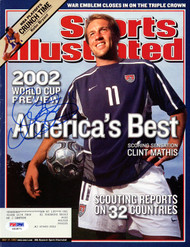 Clint Mathis Autographed Sports Illustrated Magazine Team USA PSA/DNA #X62871