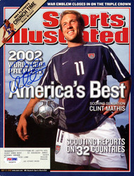 Clint Mathis Autographed Sports Illustrated Magazine Team USA PSA/DNA #X62875