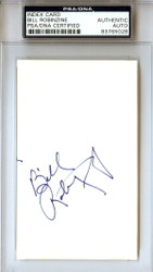 Bill Robinzine Autographed 3x5 Index Card PSA/DNA #83765028