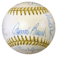 MLB Gold Glove Winners Autographed GG Baseball With 20 Signatures Including Johnny Bench, Curt Flood & Roberto Alomar PSA/DNA #W06916
