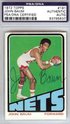 John Baum Autographed 1972 Topps Card #191 New York Nets PSA/DNA #83795837