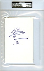 Dan Quisenberry Autographed 4x6 Index Card PSA/DNA #83796151
