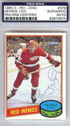 George Lyle Autographed 1980 O-Pee-Chee Card #379 Detroit Red Wings PSA/DNA #83810975