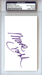 Moose Cholak Autographed 3x5 Index Card WWE PSA/DNA #83811658