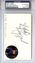 Mike Kaszycki Autographed 3x5 Index Card PSA/DNA #83812198