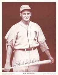 Bob Johnson Autographed M114 Baseball Magazine Page Photo Philadelphia A's PSA/DNA #Z05006