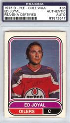 Ed Joyal Autographed 1975 O-Pee-Chee Card #36 Edmonton Oilers PSA/DNA #83812647