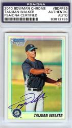 Taijuan Walker Autographed 2010 Bowman Chrome Refractor Rookie Card #BDPP39 Seattle Mariners PSA/DNA #83812786
