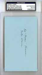 "Ed ""Moose"" Krause Autographed 3x5 Index Card Notre Dame PSA/DNA #83829070"