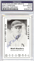 Walt Masters Autographed 1979 Diamond Greats Card #332 A's PSA/DNA #83829741