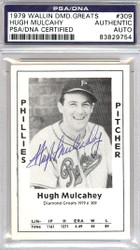 Hugh Mulcahy Autographed 1979 Diamond Greats Card #309 Phillies PSA/DNA #83829754