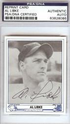 Al Libke Autographed 1945 Play Ball Reprint Card #40 Cincinnati Reds PSA/DNA #83828086