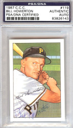 Bill Howerton Autographed 1952 Bowman Reprints Card #119 Pittsburgh Pirates PSA/DNA #83826143