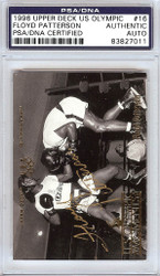 Floyd Patterson Autographed 1996 Upper Deck US Olympic Card #16 PSA/DNA #83827011