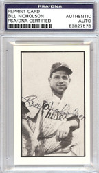 Bill Nicholson Autographed 1953 Bowman Reprint Card #14 Philadelphia Phillies PSA/DNA #83827578
