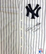 """Enos Country Slaughter Autographed New York Yankees Jersey """"HOF 7-28-85"""" PSA/DNA #V11324"""