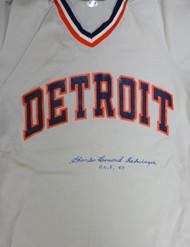 """Charlie Leonard Gehringer Autographed Detroit Tigers Jersey """"HOF 49"""" PSA/DNA #V11069"""